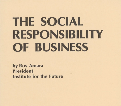 The Social Responsibility of Business
